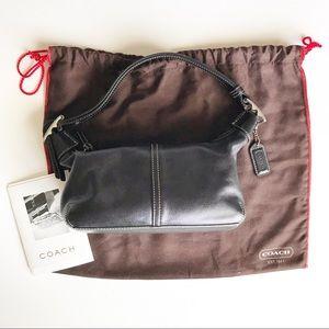 Coach Hobo Legacy Demi Handbag Black Leather 9564